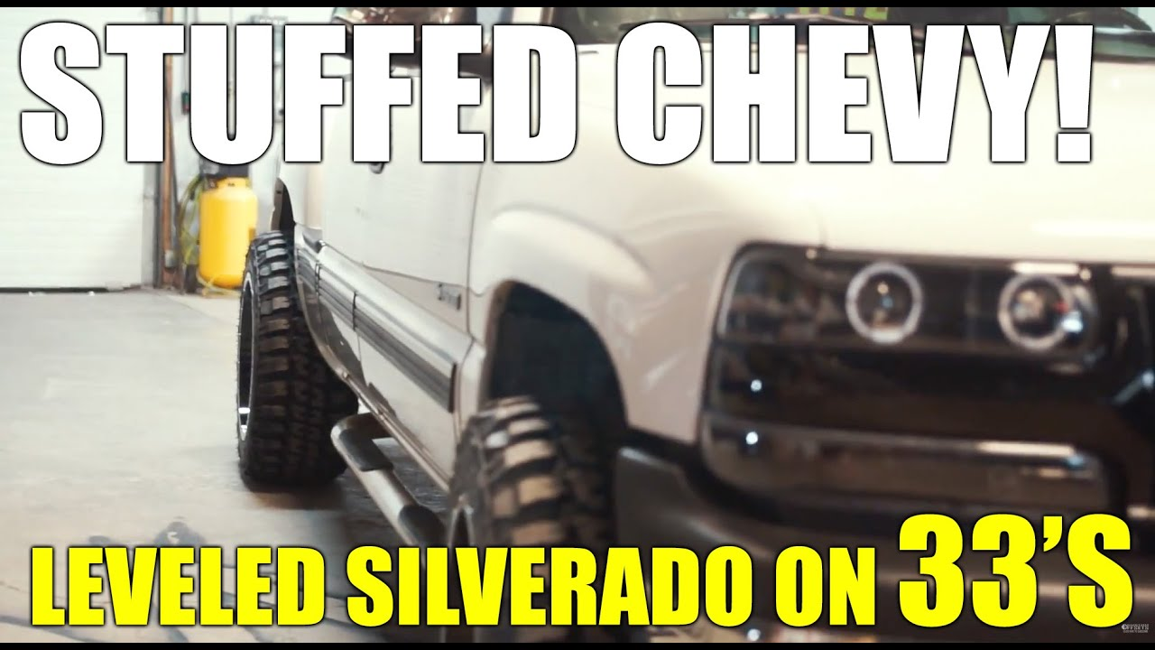 how to fit 33s and 20x12s on a leveled chevy silverado 99 06 1500 norcal mod [ 1280 x 720 Pixel ]