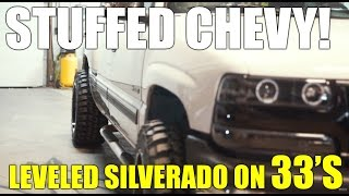 HOW TO Fit 33s And 20x12s On A Leveled Chevy Silverado 99-06 1500 NORCAL MOD