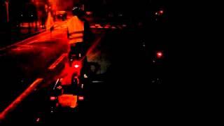 Les rues, la nuit, de Lambersart, 4.10.2015 # Manèges - Kreise # Berlin - Paris 2015