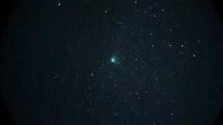 Comet Catalina (C2013/US10) @ 16X via White Phosphor Night Vision in Real Time (A7S Capture)