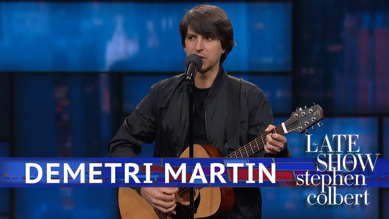 Demetri Martin Stand-Up on 'The Late Show'