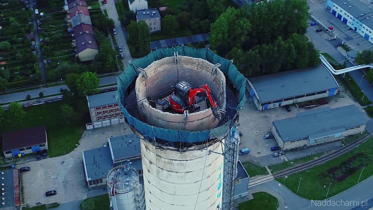 Rozbiórka kominów Bielsko-Biała 2019 r.