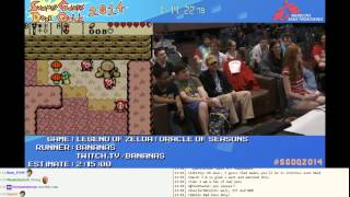 SGDQ 2014: Zelda Oracle of Seasons Speed Run by Bananas with Chat reactions