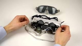 видео Как правильно надевать очки для плавания