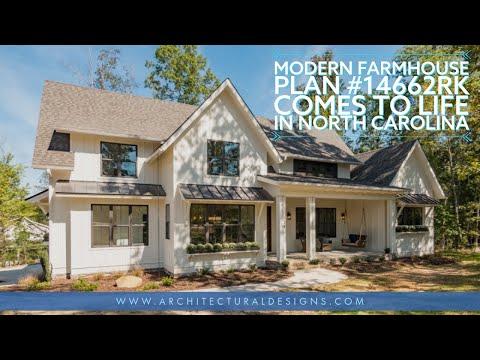 Tour Architectural Designs Modern Farmhouse Plan 14662RK Comes to Life in North Carolina!