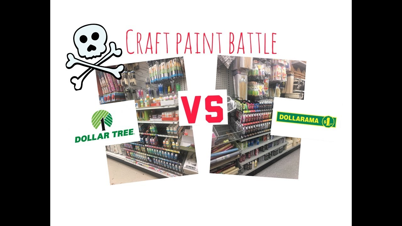 Dollarama VS Dollar Tree - Not all craft paints are created equal