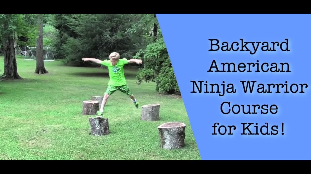Merveilleux Backyard American Ninja Warrior Course For Kids