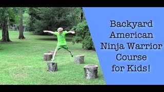 Backyard American Ninja Warrior Course for Kids