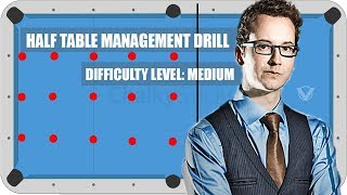Billiards Drill #5 -- Half Table Manager-- Venom Trickshots