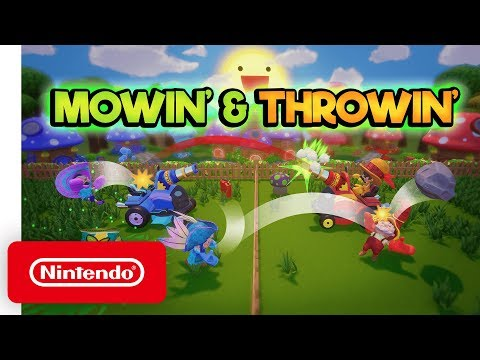 Guide: The best mow-down tricks in Switch's new couch co-op Mowin' & Throwin'