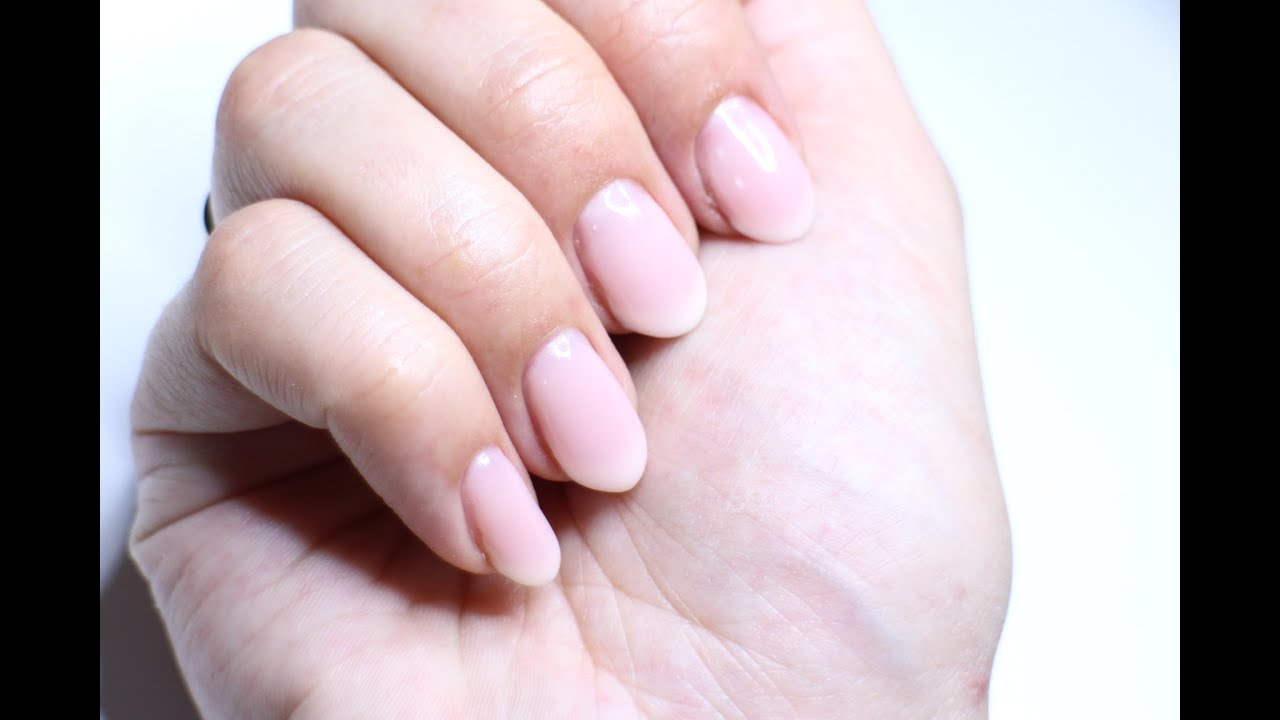 Natural french gel nails, soft \
