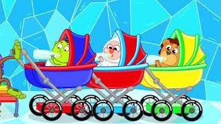 Lion Family Pretend Play with Toy Washing Machine #2. New Funny Stories about Toys | Cartoon for Kid
