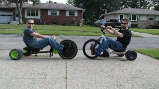 Huffy Green Machine versus Huffy Slider, 3 Rounds of Big Wheel Racing