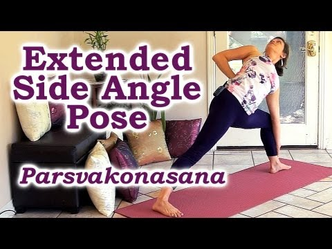 Yoga: How To Do Extended Side Angle Pose For A Flexible Body, Pain Relief, Fitness, Wellness
