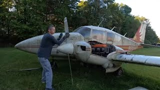 abandoned airplane will it start after 7 years? Aztec turbo twin!