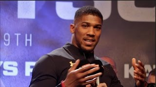 ANTHONY JOSHUA **POST WEIGH IN** REFUSES TO GIVE PREDCITION AS HE LOOKS TO SIMPLIFY FIGHT