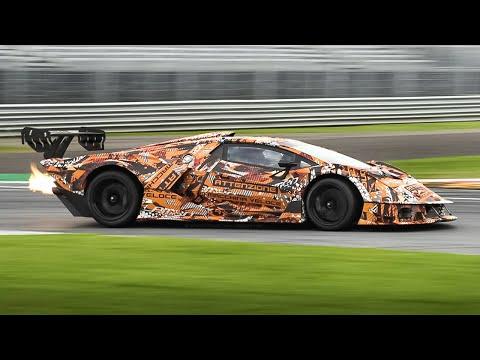 Lamborghini Essenza SCV12 testing at Monza: Warm Up, Accelerations & Pure V12 Sound!