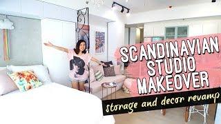 Scandinavian Studio Unit MAKEOVER Philippines // No Renovation Interior Revamp // by Elle Uy