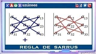 Determinante 3x3 - Regla de SARRUS BACHILLERATO matematicas