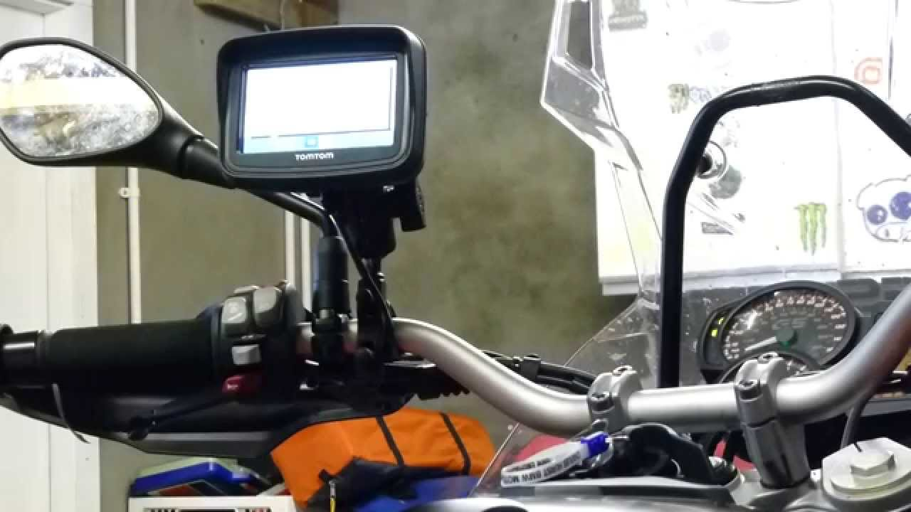 tomtom rider v5 sat nav powered by bmw aux port can bus system compatible test video youtube [ 1280 x 720 Pixel ]