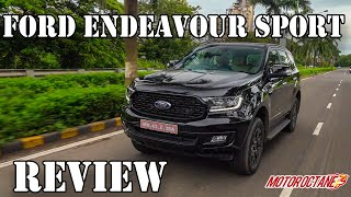 Ford Endeavour Sport 2020 India - Price, Performance, 4x4, Mileage, Features | हिंदी | MotorOctane