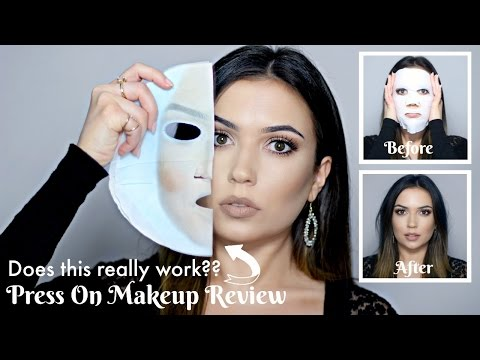 """Press On Makeup Face Mask 