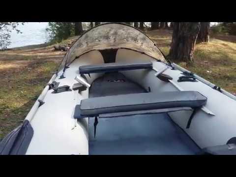 Носовой тент для лодки пвх менее чем за 850 рублей.