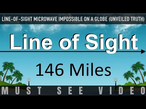 𝐅𝐋𝐀𝐓 𝐄𝐀𝐑𝐓𝐇 -- Line-of-Sight Microwave IMPOSSIBLE ON A GLOBE