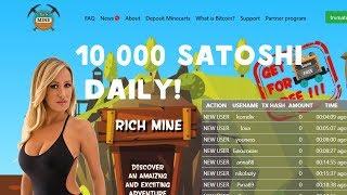 RichMine. Free Bitcoin BTC Mining. November 2017. 10 000 Satoshi