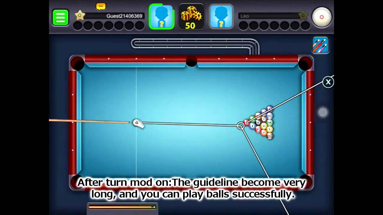 [8 Ball Pool] How to Extend Guideline Using Free Xmodgames! UPDATED to the  latest version