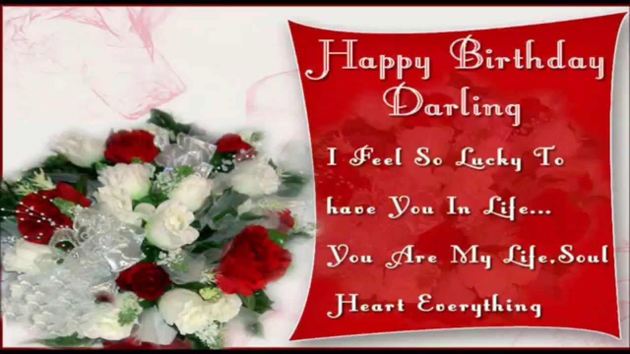 Sweet cute happy birthday wishes for girlfriend YouTube