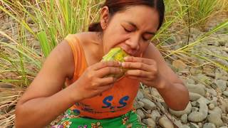 Survival Skills:find Melone By Hand  -   Eating Delicious #23