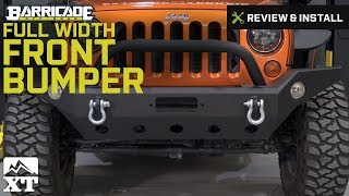 Jeep Wrangler Barricade Trail Force HD Full Width Front Bumper (2007-2016 JK) Review & Install