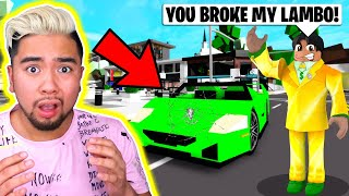 I CRASHED INTO A RICH BRAT S LAMBO (ROBLOX BROOKHAVEN RP) YouTube