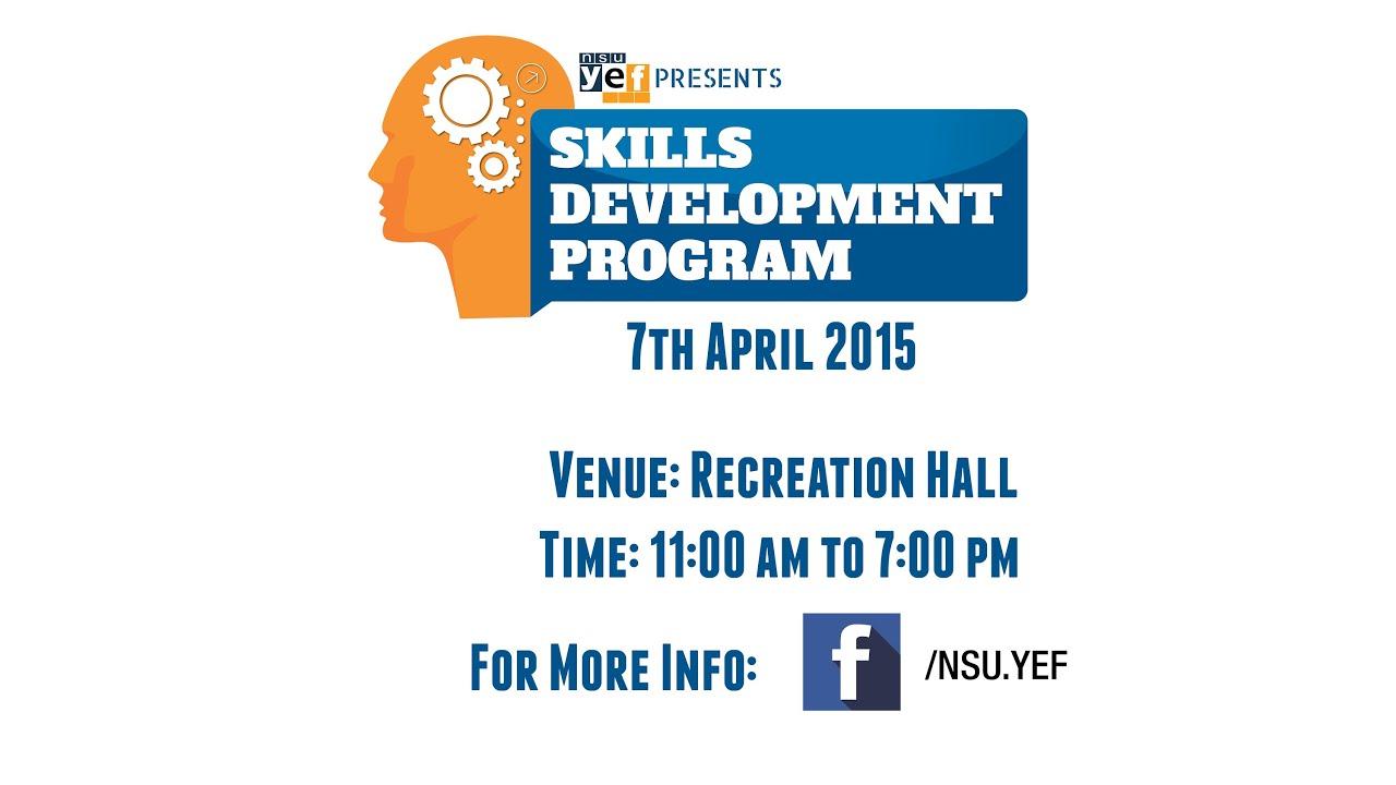 Skills Development Program 2015 - YouTube