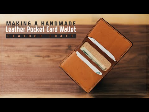 Leather Pocket Card Wallet/ 주머니 카드 지갑 / Leather craft PDF / 가죽공예 패턴 / ASMR