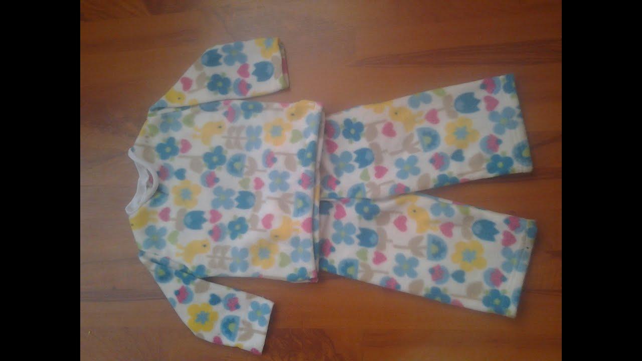 Como hacer una pijama para bebe doovi - Hacer una manta de ganchillo ...