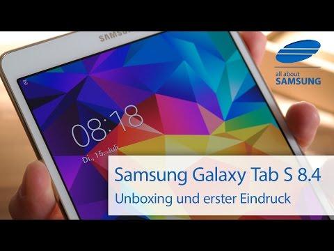 Samsung Galaxy Tab S 8.4 Unboxing und Lieferumfang deutsch HD
