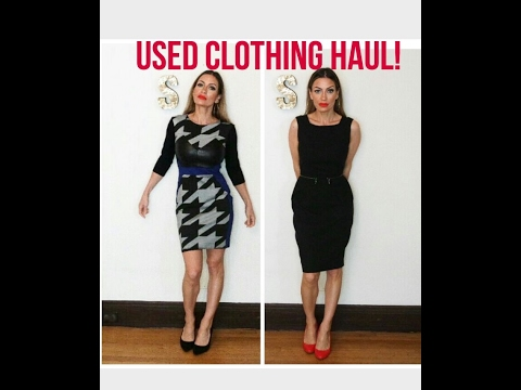 Used clothing haul!! Designer dresses for under $20! - YouTube