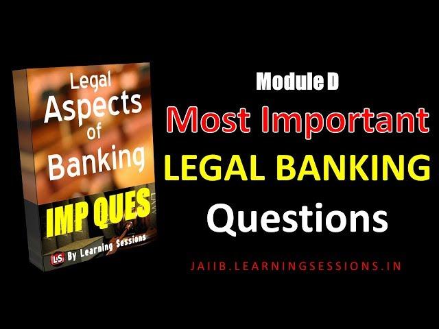 JAIIB Exam PPB Paper 1 Important Questions Module D