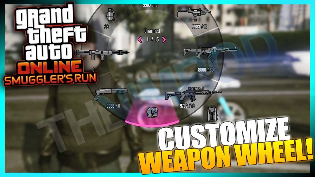 Gta Online How To Change Weapon Wheel Color And Other In Game Menu