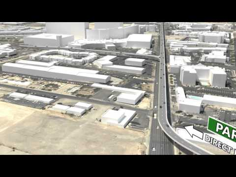Paradise Road portion of Las Vegas Elevated Roadways Project