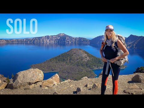 SOLO BACKPACKING Crater Lake National Park Oregon 4K | Pacific Crest Trail | Rim Trail