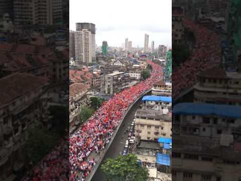 मराठा क्रांती मोर्चा मुबई ड्रोन कॅमेरा maratha kranti morcha mumbai on dron camera thumbnail