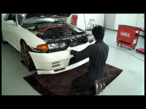 r32 gt-r front bumper removal
