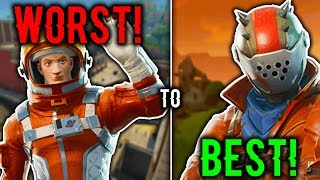 RANKING EVERY BATTLE PASS 3 SKIN FROM WORST TO BEST! (Fortnite Battle Royale)