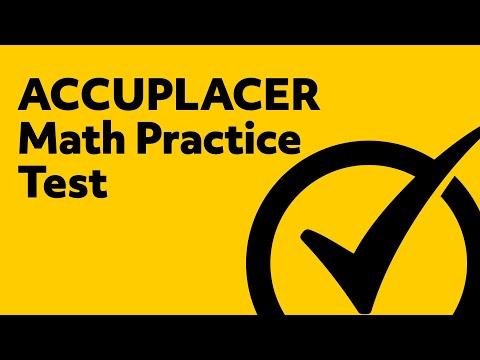 ACCUPLACER Math Test Practice Exam