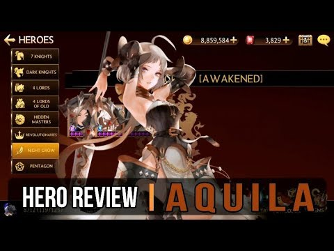 Seven Knights - Aquila [Hero Review] Captain of the Crusaders