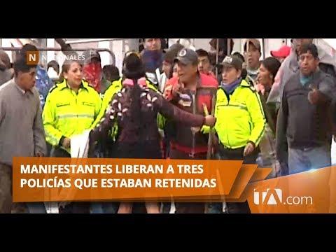 Indígenas se encuentran en el parque El Arbolito Teleamazonas