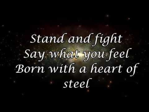 Manowar- Heart of steel (Lyrics)